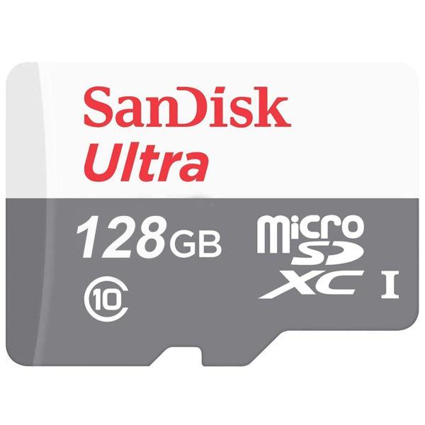 کارت حافظه microSDXC سن دیسک مدل Ultra کلاس 10 استاندارد UHS-I U1 سرعت 100MBps ظرفیت 128 گیگابایت