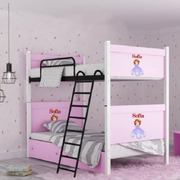 تخت خواب دو طبقه کد 363 مدل کارتونی سایز 90x200 سانتیمتر