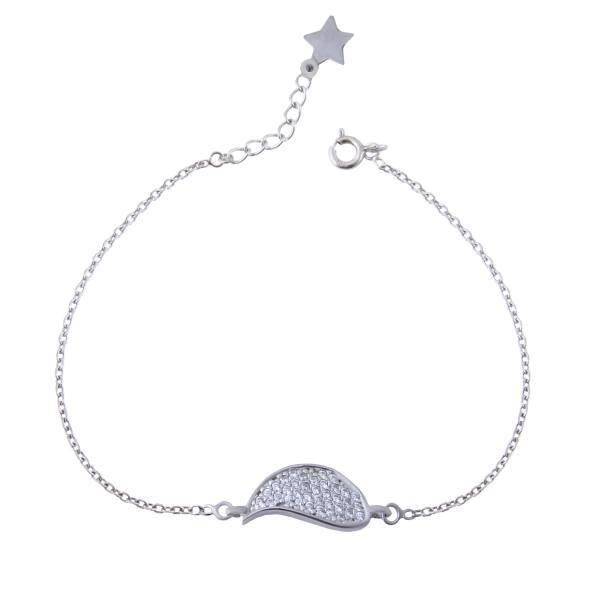 دستبند نقره زنانه بازرگانی میلادی کد DP_155