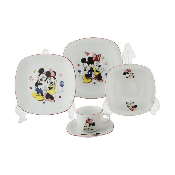 سرویس غذا خوری 5 پارچه کودک چینی زرین ایران سری ایتالیا اف مدل Mickey Mouse درجه عالی