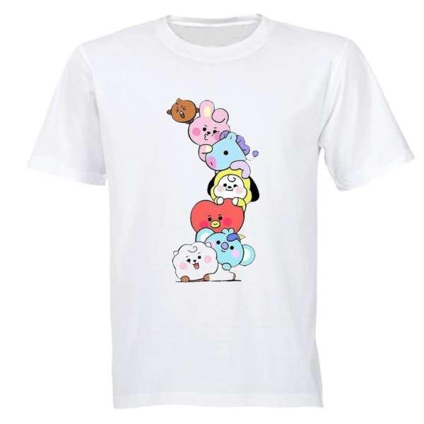 تی شرت آستین کوتاه زنانه مدل بی تی اس 001