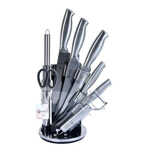سرویس چاقو اشپزخانه 9 پارچه ام جی اس مدل KS9012S