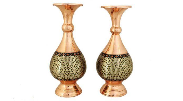 راهنمای خرید گلدان خاتم کاری با قیمت روز و خرید اینترنتی