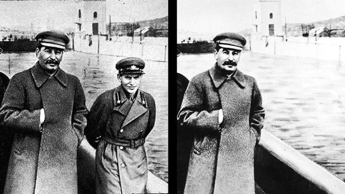 جوزف استالین و فتوشاپ