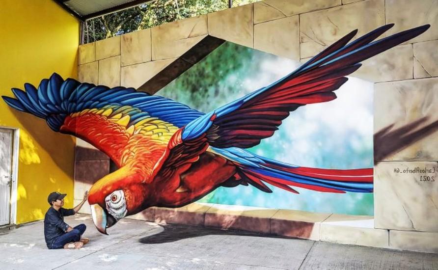 نقاشی خیابانی سه بعدی